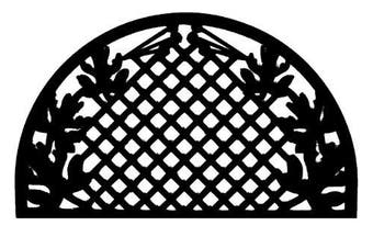 (Grid Leaves) - Imports Decor Half-round Rubber Doormat, Grid Leaves, 46cm by 80cm