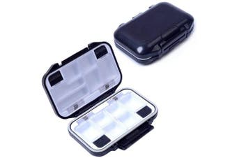 (Small/Black) - Agepoch Waterproof Fly Fishing Tackle Box Storage Box Fishing Lure Plastic Boxes for Bait Casting Fishing