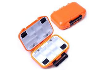 (Small/Orange) - Agepoch Waterproof Fly Fishing Tackle Box Storage Box Fishing Lure Plastic Boxes for Bait Casting Fishing