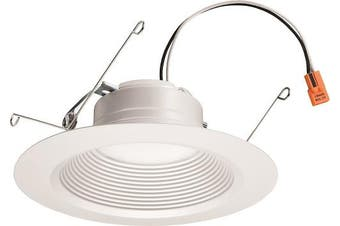 (5-15cm , 4000K - Cool White) - Lithonia Lighting 2.1cm White Retrofit LED Recessed Downlight, 12W Dimmable with 4000K Cool White, 845 Lumens
