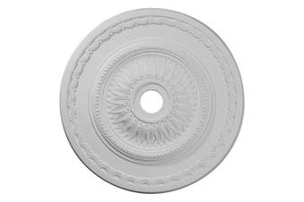 (Primed) - 70cm OD x 9.2cm ID x 4.1cm P Sunflower Ceiling Medallion (Fits Canopies up to 14cm )