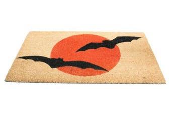 (Bats) - Imports Décor Vinyl Backed Coir Doormat, Bats, 46cm by 80cm