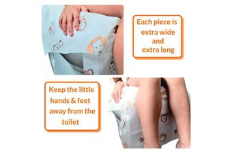 (20) - Disposable Toilet Seat Covers - Extra large size perfect for toddlers potty training and great for travel both kids and adults (20)