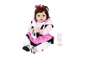 (MISS PANDA) - Aori Reborn Baby Doll Soft Silicone 60cm Lifelike Girl with Panda Gift Set by