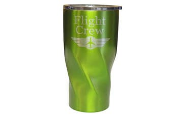 (Green) - Stainless Steel Vacuum Insulated Tumbler, Aviation Travel for Flight Crews,Double Wall (Green)