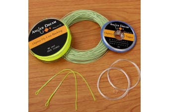 (WF 2F Fly line combo, Green) - ANGLER DREAM AnglerDream WF Fly Fishing Line Kit 1 2 3 4 5 6 7 8 9WT Fly Fishing Line Leader Braided Backing Fish Line