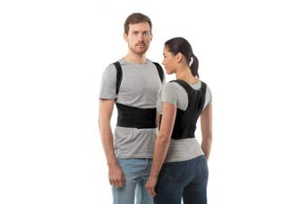 """(Black, 1: 68-78 CM; 27-31"""") - Posture Corrector Back Support Belt by aHeal - Medical Orthopaedic Under Clothes Back Brace Spine Corrector for Men and Women - Lower Pectoral and the Lumbar Spine Stress Relief - Size 1: 68-78 CM; 27-31"""" - Black"""