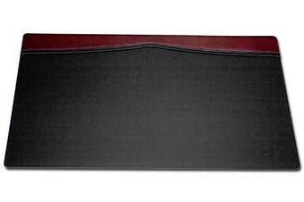 (Burgundy) - Dacasso Desk Pad with a Top-Rail, 90cm by 50cm , Burgundy