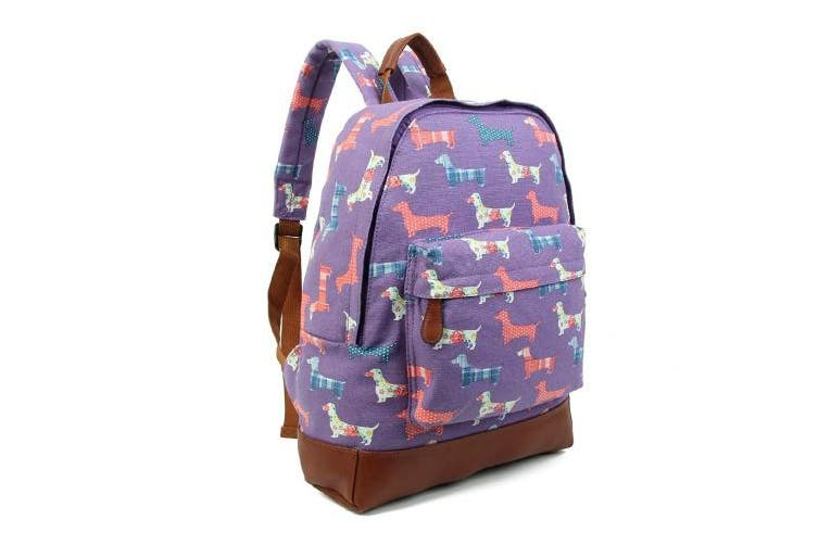 (Light Blue) - New KIDS Childrens Designer Viva Fashion Stylish Canvas UNICORN Print Backpack Kids 'Back to School' Collection