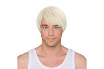 (Blonde) - Blonde Short Wig,Acecharming Men Fashion Synthetic Hair Wigs For Daily Use with Wig Cap