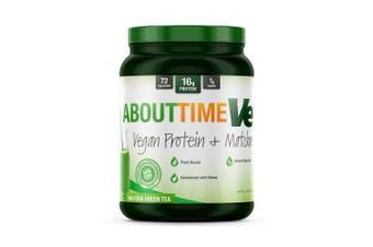 (Vegan Matcha (Green Tea)) - About Time Vegan Protein Plus, Non-GMO, All Natural, Lactose/Gluten Free, 16g of Protein per Serving (Matcha Green Tea) -1.6 pounds)