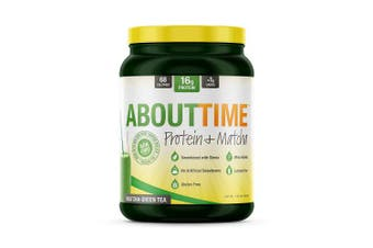 (Matcha (Green Tea)) - About Time Whey Isolate Protein Plus, Non-GMO, All Natural, Lactose/Gluten Free, 16g of Protein per Serving (Matcha Green Tea) -1.5 pounds)