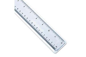Universal 59022 Acrylic Plastic Ruler, 30cm , Clear