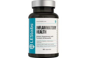 LES Labs Inflammatory Health, Natural Supplement for Joint & Muscle Discomfort, Flexibility and Healthy Inflammatory Response, 60 Capsules