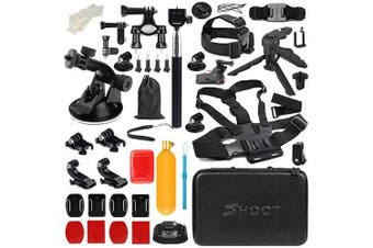 D & F Outdoor Sport Camera Accessories Kit for Gopro Hero/6/5/4/HERO(2018) SJCAM YI Crosstour AKASO Campark Sony Sports DV and other Action Camera