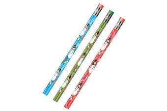 Moon Products Dozen Decorated HB 2 Wood Pencil, Snowman, Assorted (MPD52071B)