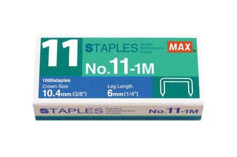 Max No. 11-1M Staples For Vaimo Staplers