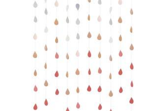 (Gradient Pink) - Cieovo Raindrop Garland, Paper Raindrops, 4 Set Raindrop Paper Garland for Nursery Decor April Showers Spring Wedding Birthday Decorations