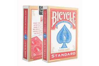 (Red) - Bicycle Brand Invisible Deck - Famous Magic Card Trick - Includes Cascade Card Bag (Red)