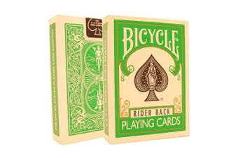 (Green) - Bicycle Brand Invisible Deck - Famous Magic Card Trick - Includes Cascade Card Bag (Green)