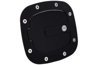 (Flat Black, Locking) - All Sales 6071KL Billet Fuel Door