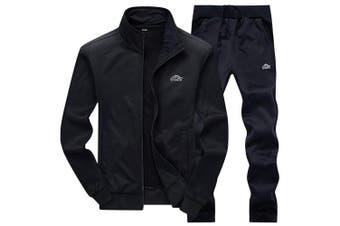 (Medium, 03black) - DUNKINBO Men's Athletic Tracksuit Full Zip Warm Jogging Sweat Suits