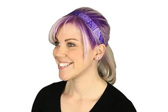 (Electric Wild Flowers) - Cooling Headbands for Women & Men | Moisture Wicking Sweatband & Sports Headband | Stay Cool During Workouts Cycling Cardio Running Yoga | Headband for Under Helmets & Hats | CoolCore Technology