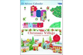 Traditional Folk Village - 24 Pop up buildings to make Advent Calendar - 418716-335 x 473