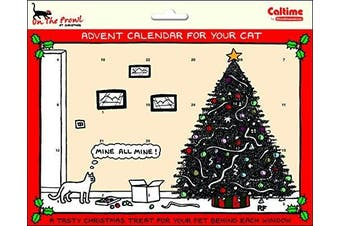 Rupert Fawcett - On the Prowl at Christmas PET Cat Xmas Countdown Advent Calendar with treats behind Every Door - Mine all mine - 247 x 194
