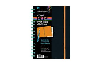 "(Multicolor) - Astrobrights Twin Wire Journal, 6.5"" x 8.5"", Multi-Colour Ruled Pages, 180 Pages(99728)"