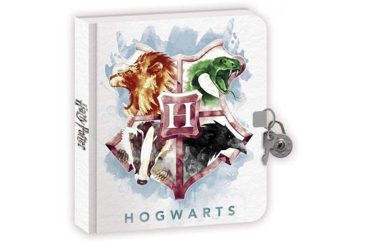 Playhouse Harry Potter Houses of Hogwarts Lock and Key Lined Page Diary for Kids