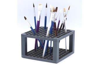 (2) - Multi Bin Art Brush Organiser 96 Hole Plastic Pencil & Brush Holder Coloured Pencils Markers - Desk Stand Organiser Holder Fits Paint Brushes Dryer Holder for Pens Coloured Pencils Markers (2)