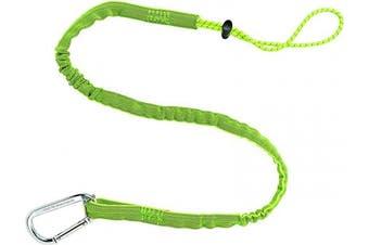 (Standard, Lime) - Ergodyne Squids 3100 Tool Lanyard with Single Carabiner and Adjustable Loop End, Standard Length, Lime