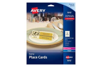 """(150 cards, 1.4375"""" x 3.75"""") - Avery Ivory Place Cards, Laser/Inkjet Printers, 2.5cm - 1.1cm x 9.5cm , Pack of 150 (5012)"""