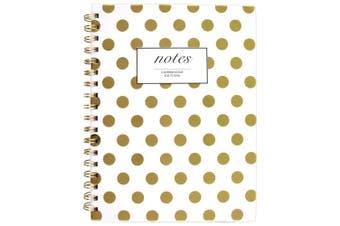 (24cm  x 18cm , Gold Dots) - Cambridge Business Notebook, Hardcover, 80 Sheets, 24cm x 18cm , Fashion, Gold Dot (59016)