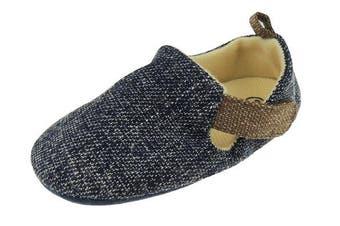 (0-3 Months) - Baby Boys Smart Melange Speckled Sandals Slip On Pram Shoes 11 0-3 Months Blue