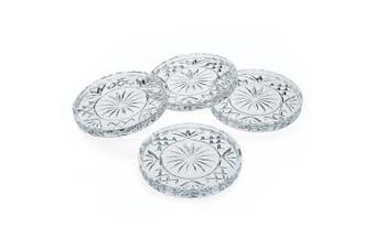 Godinger Crystal Dublin Coasters, Set of 4