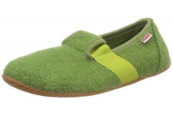 (7.5 UK, Green (Gras 467)) - GIESSWEIN Unisex Kids' Weidach Low-Top Slippers