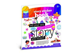 (Girl Power Story Sticker Book) - Craft-tastic Jr – Girl Power Story Sticker Book – Inspire Girls to Tell Their Stories with Reusable Stickers