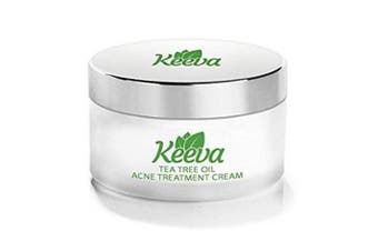 (30ml :)) - Keeva Organics Acne Treatment Cream With Secret TEA TREE OIL Formula - Perfect For Acne Scar Removal, Fighting Breakouts, Spots, Cystic Acne - See Results in Days Without Dry Skin (30ml)