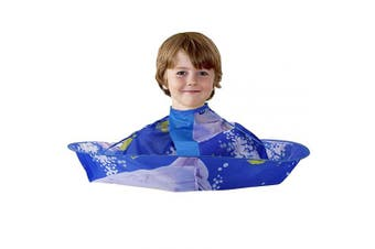 (Dolphin) - CCbeauty Children Barber Cape for kid Haircut Umbrella Hair Catcher kids Hair Styling Cutting Cape Apron (Dolphin)