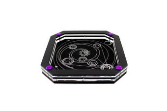 (Celestial) - C4Labs Silver Line Personal Dice Tray with 3 Designs (Celestial)