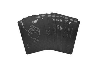 (Numbers) - Reversible Flash Card Set 13cm x 18cm 20/pkg-black - Numbers 1-20