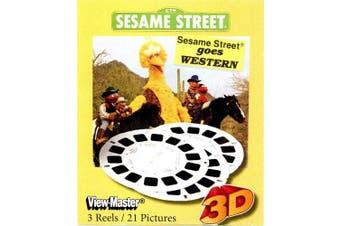 Sesame Goes Western - Classic ViewMaster 3 Reel Set - Big Bird, Ernie, Bert
