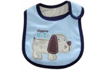 (E- CUTE PUPPY DOG) - BABY BOYS BIBS CHOOSE 1 OF 7 ADORABLE BIBS,FULLY LINED,INNER PVC WATERPROOF 100% COTTON SUITABLE FROM NEWBORN - 3 YEARS (E- CUTE PUPPY DOG)