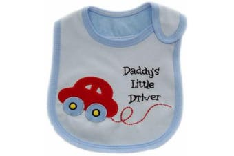 (C-DADDY'S LITTLE DRIVER) - BABY BOYS BIBS CHOOSE 1 OF 7 ADORABLE BIBS,FULLY LINED,INNER PVC WATERPROOF 100% COTTON SUITABLE FROM NEWBORN - 3 YEARS (C-DADDY'S LITTLE DRIVER)