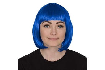 (Blue) - Ladies Short Bob Wig Fancy Dress Accessory Cosplay Party Wigs (Blue)