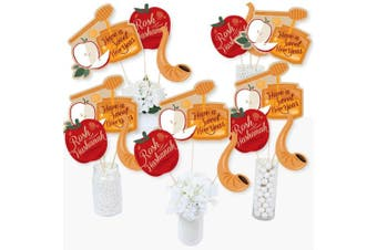 Rosh Hashanah - Jewish New Year Centrepiece Sticks - Table Toppers - Set of 15