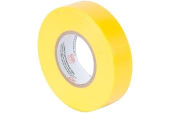 (Electrical Tape, ¾ Inch x 20m Roll, Yellow) - Gardner Bender GTY-667P Electrical Tape, ¾ in x 20m, Durable, Easy-Wrap, Flame Retardant, Yellow