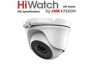 HiWatch by Hikvision THC-T120 2mp 2.8mm 1080p EXIR 20m IR TVI/AHD/CVI/CVBS Turret Dome CCTV Camera Metal Body - White